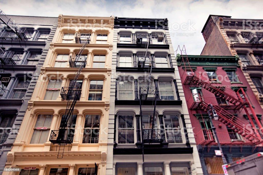 New York Architecture: SoHo Lofts stock photo