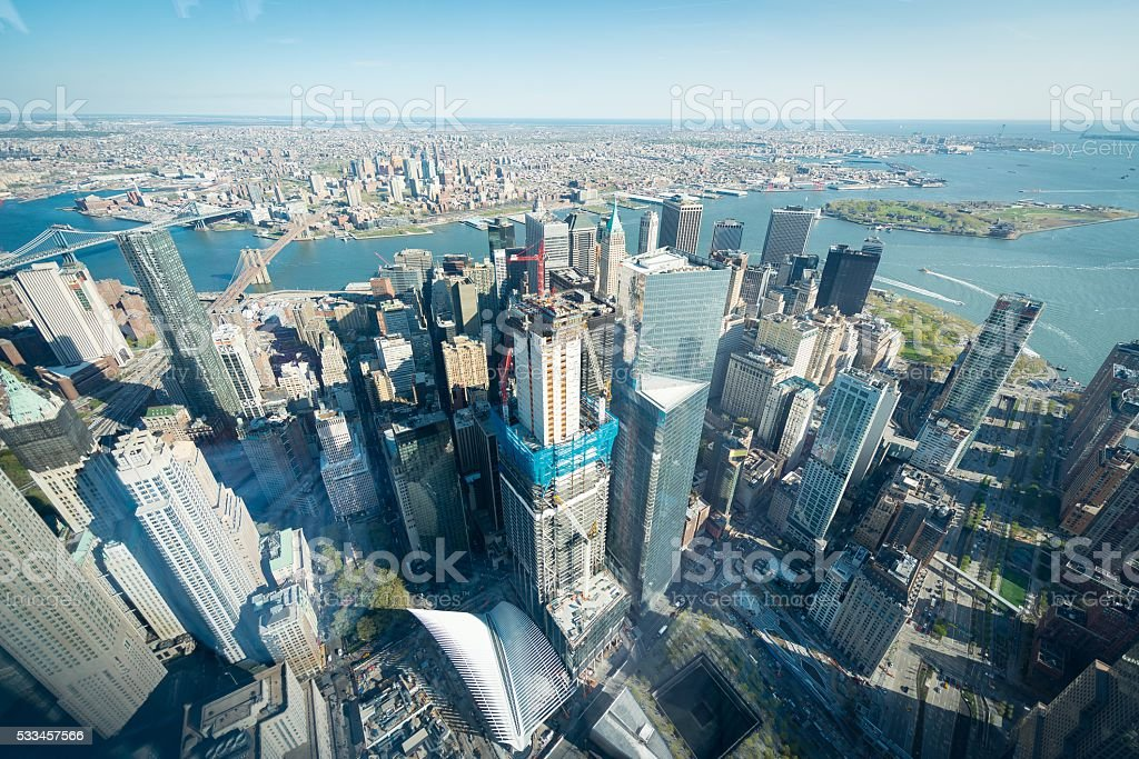 New York Arial View stock photo