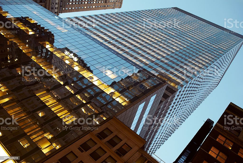 New York at Dusk royalty-free stock photo