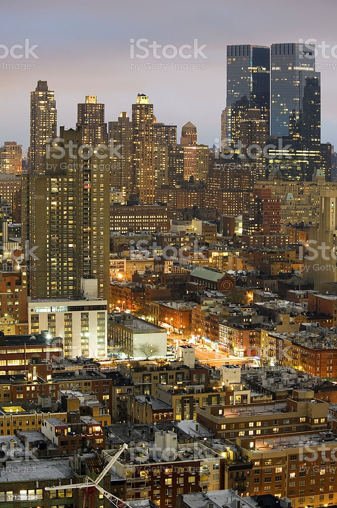 New York at Night royalty-free stock photo