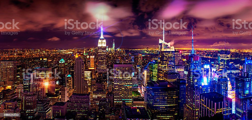 New York at night stock photo