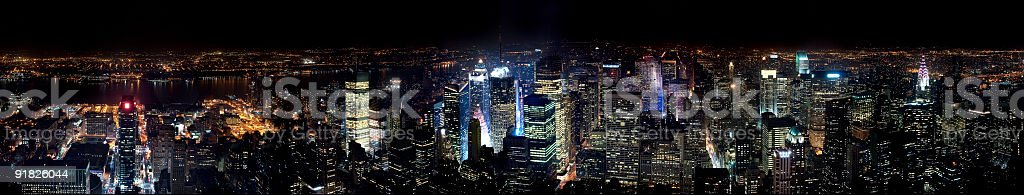 New York At Night royalty-free stock photo