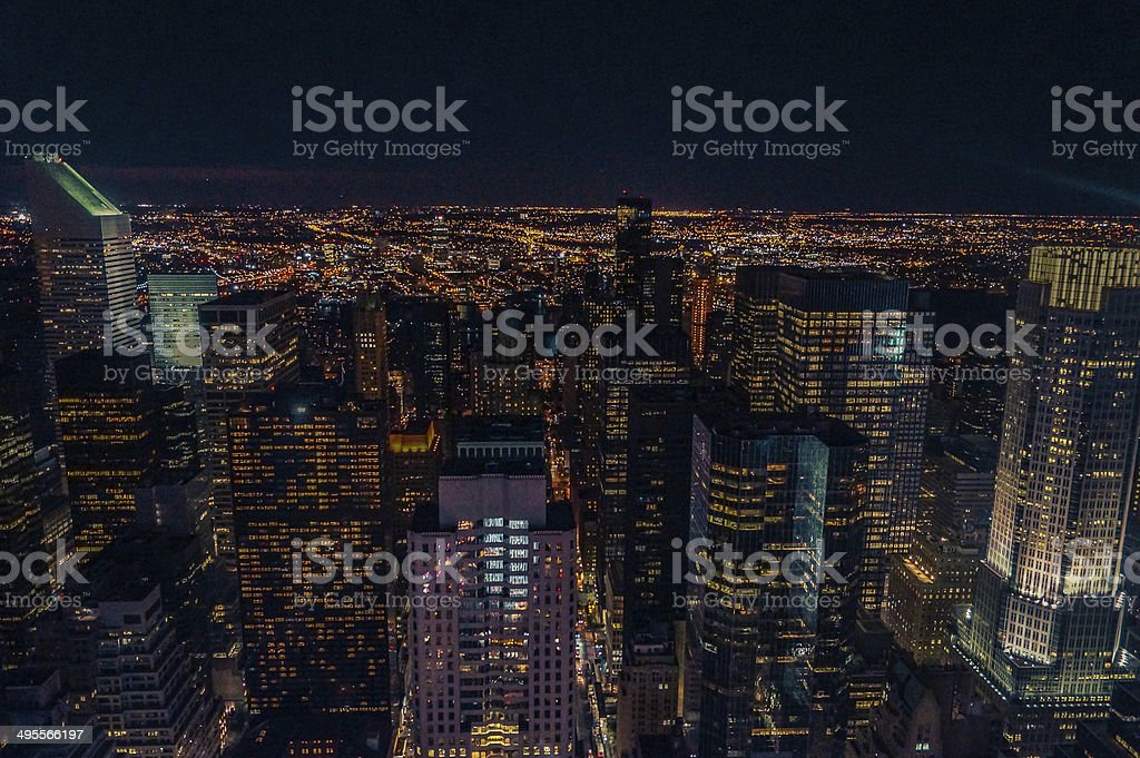New York bei Nacht stock photo