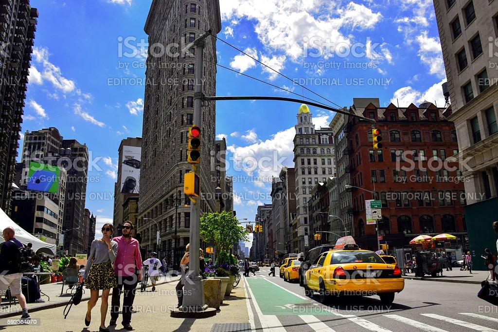 New York - Big City Life - Flatiron building stock photo
