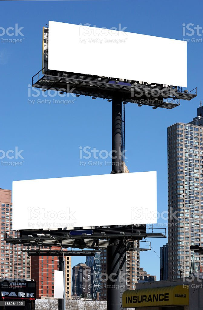 new york billboards stock photo