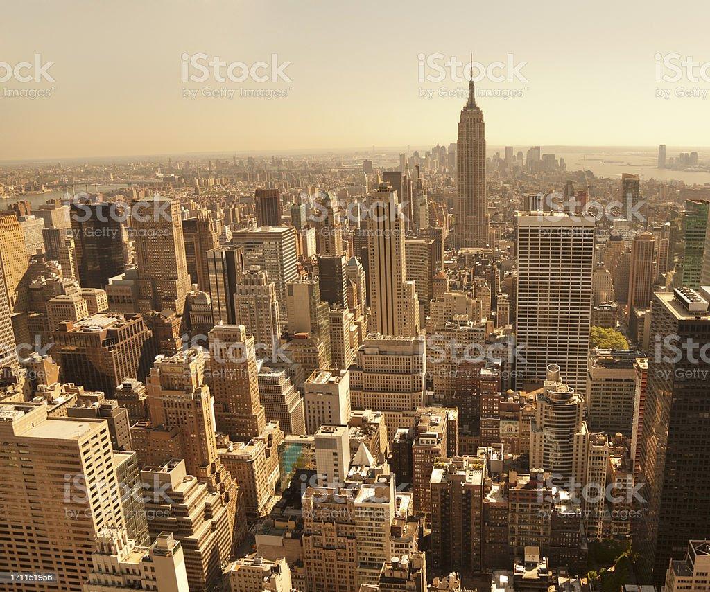 new york bird's eye view of manhattan royalty-free stock photo
