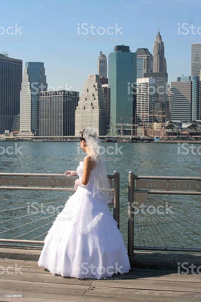 New York Bride royalty-free stock photo