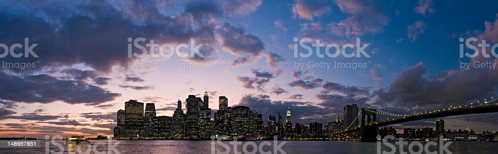 New York bright lights big sky sunset royalty-free stock photo