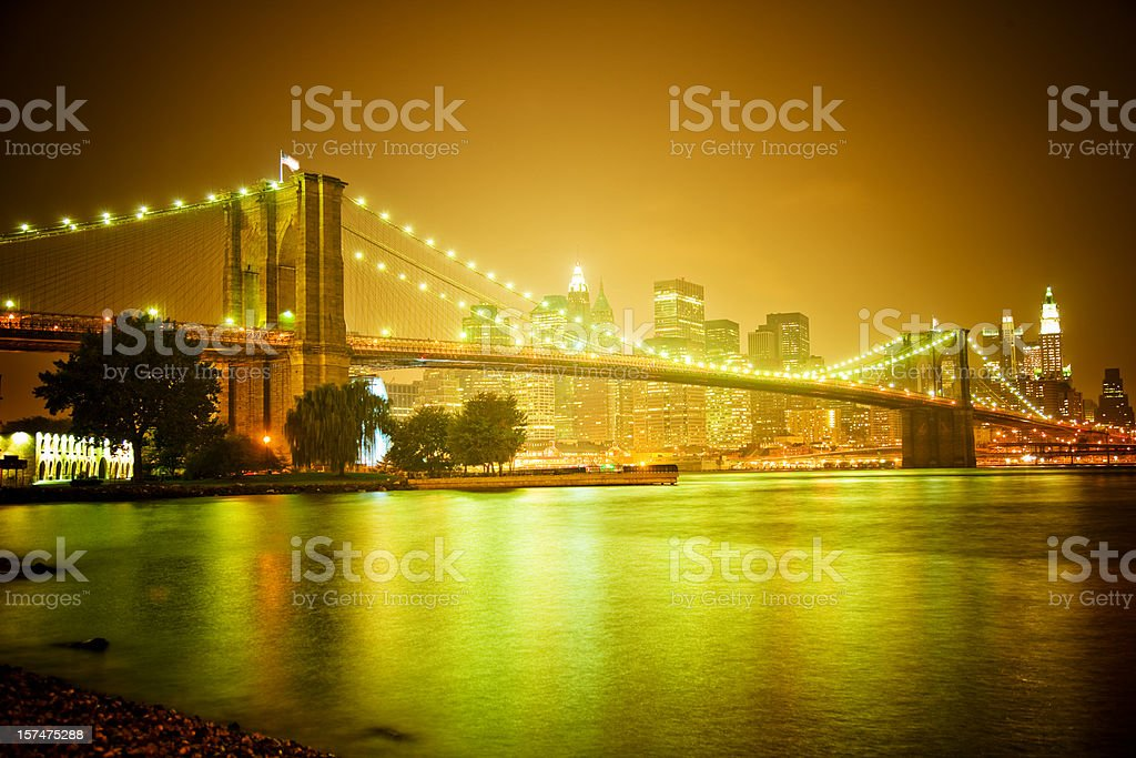 New York - Brooklyn Bridge royalty-free stock photo