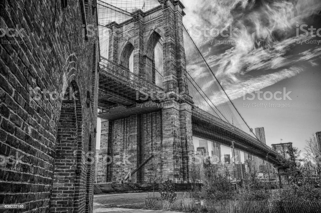 New York Brooklyn Bridge stock photo