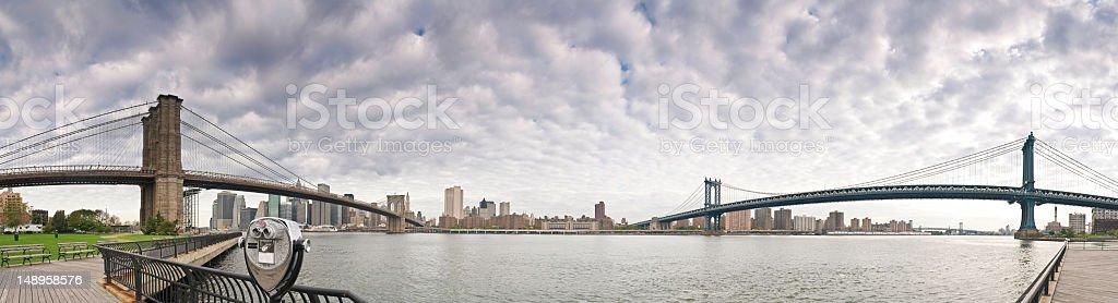 New York Brooklyn Manhattan Bridges stock photo
