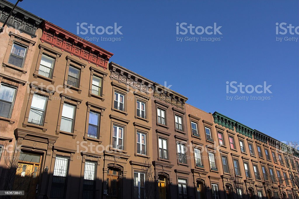 New York Brownstones stock photo