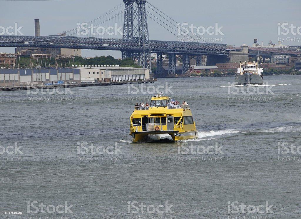 New York busy harbor royalty-free stock photo