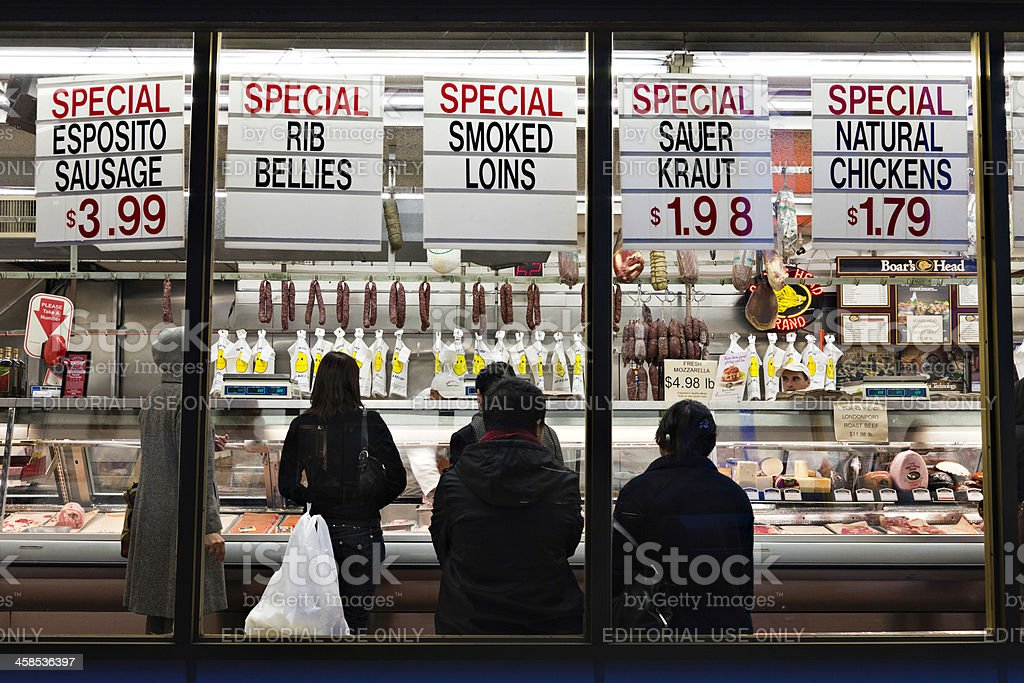 New York Butcher Shop stock photo