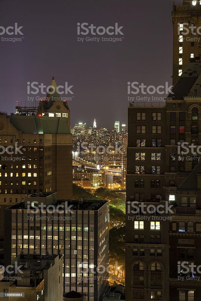 New York by night stock photo