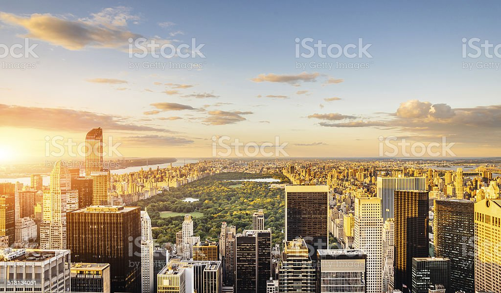 New York - Central Park view stock photo