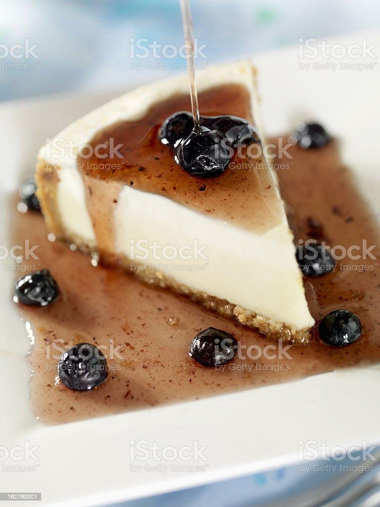 New York Cheesecake with Blueberries stock photo