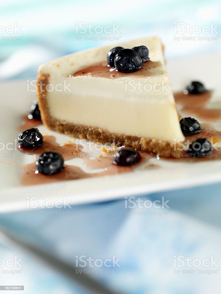 New York Cheesecake with Blueberry's royalty-free stock photo