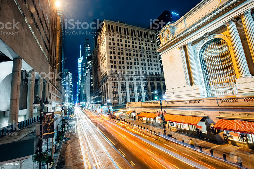 New York City 42nd Street and Grand Central Station stock photo