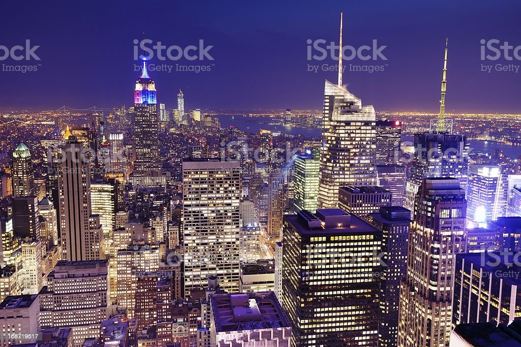 New York City Aerial View royalty-free stock photo