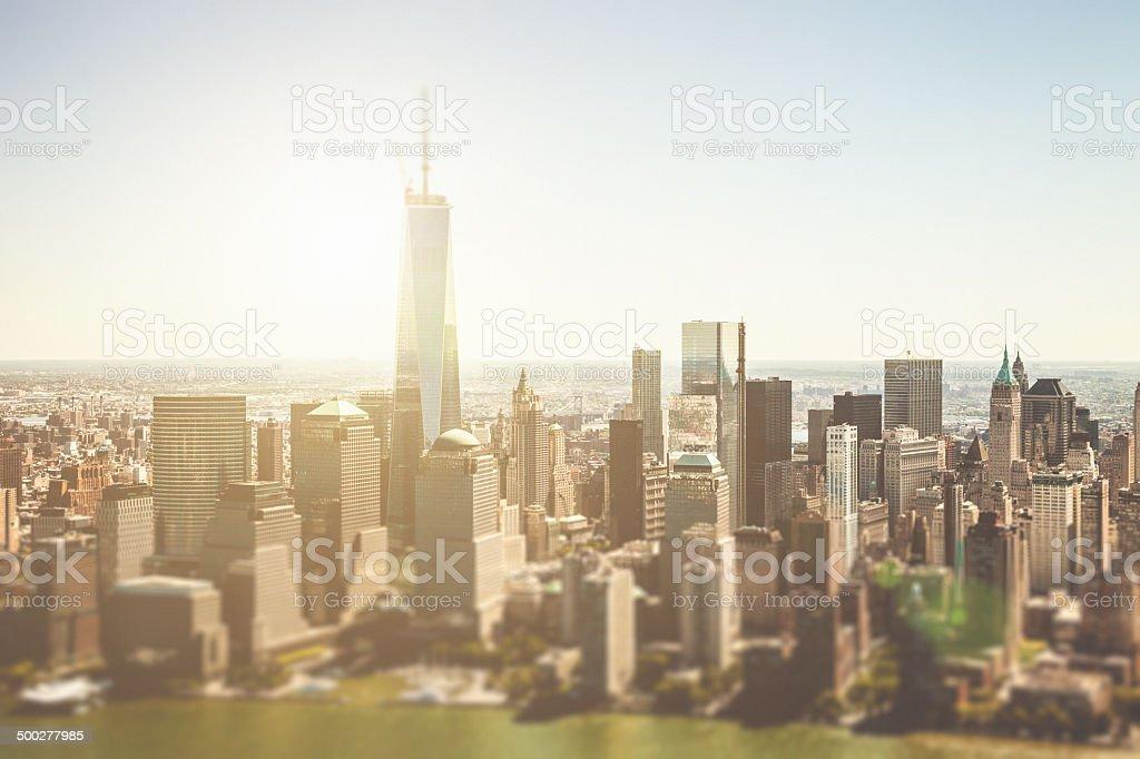 New York City - aerial view stock photo