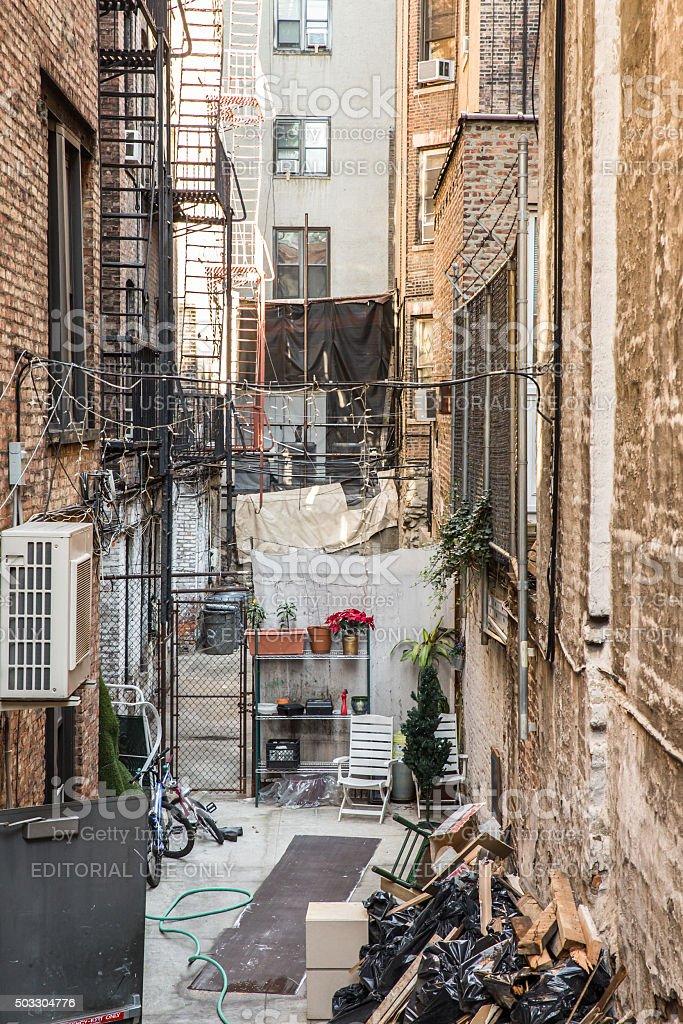 New York City Alley stock photo