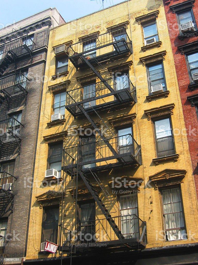 New York City Apartment Buildings royalty-free stock photo