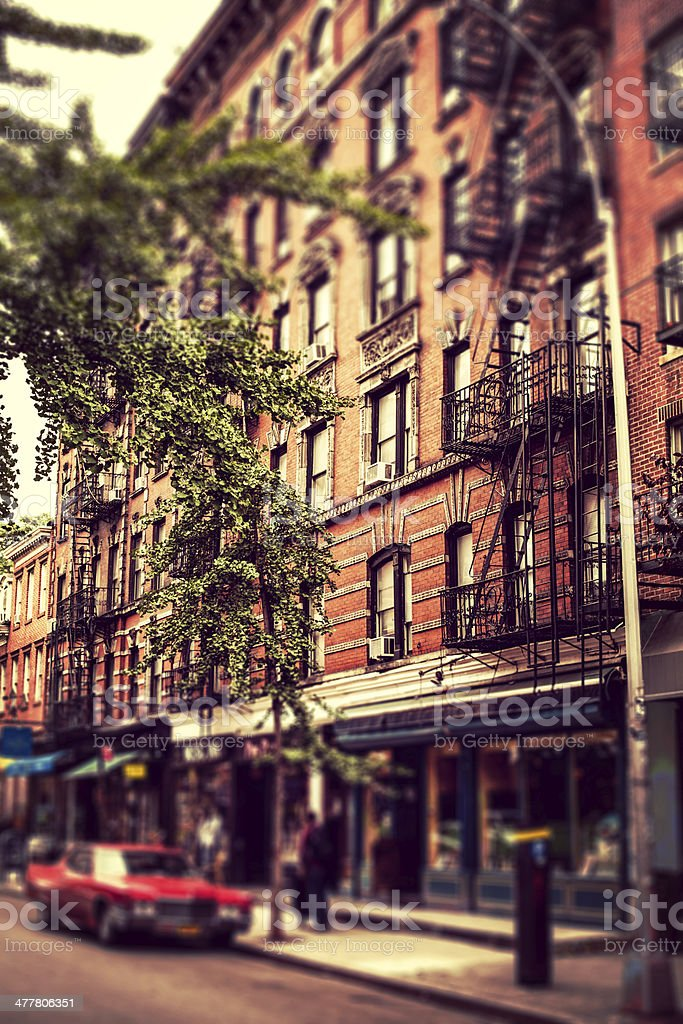 New York City Apartments in West Village stock photo
