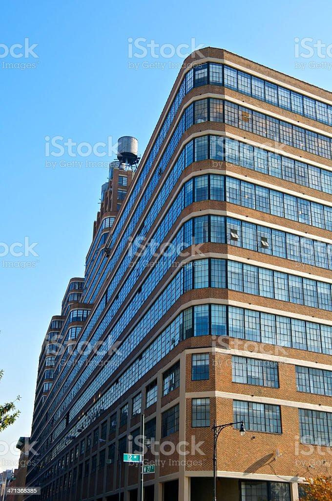 New York City Architectural cityscape, Starrett-Lehigh Building, Manhattan stock photo