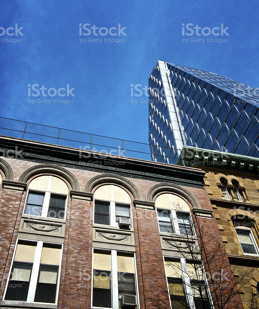 New York City Architectural eras in contrast, Manhattan Cityscape royalty-free stock photo