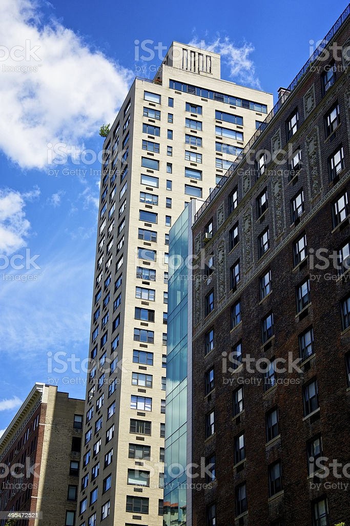 New York City Architectural eras/styles in contrast, Manhattan Cityscape royalty-free stock photo