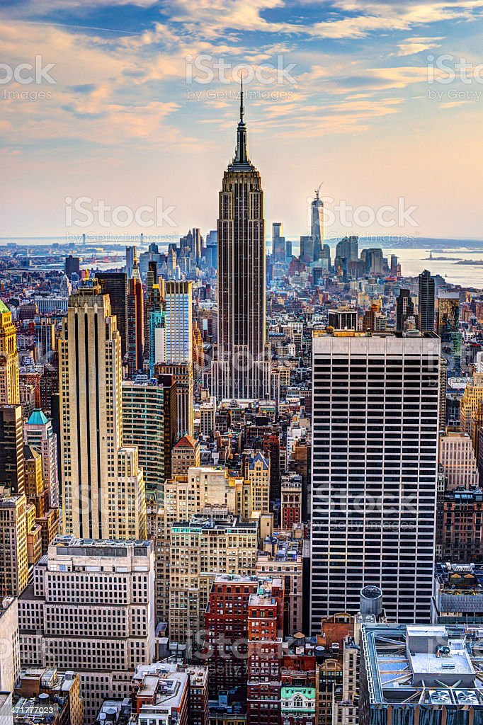 New York City at Dusk stock photo