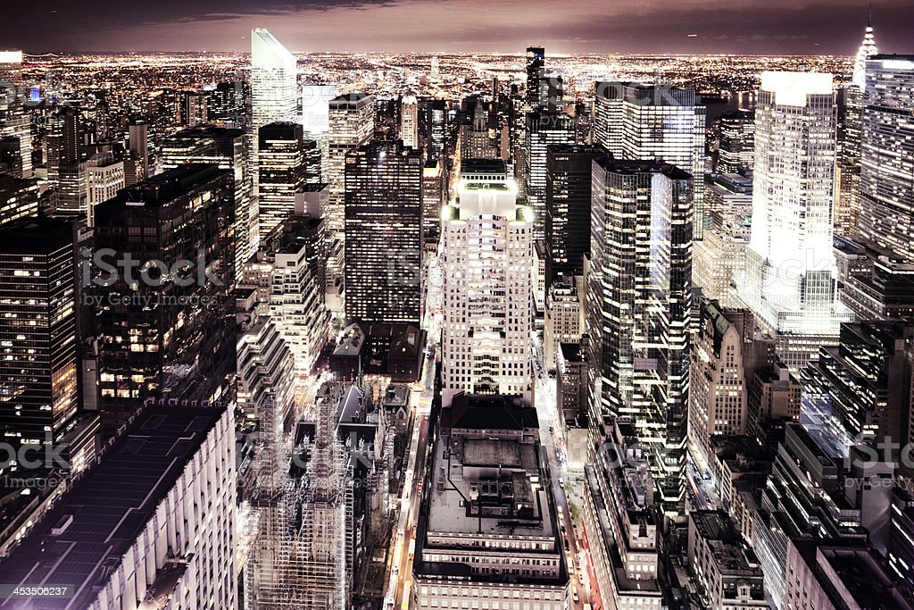 New York City at night royalty-free stock photo