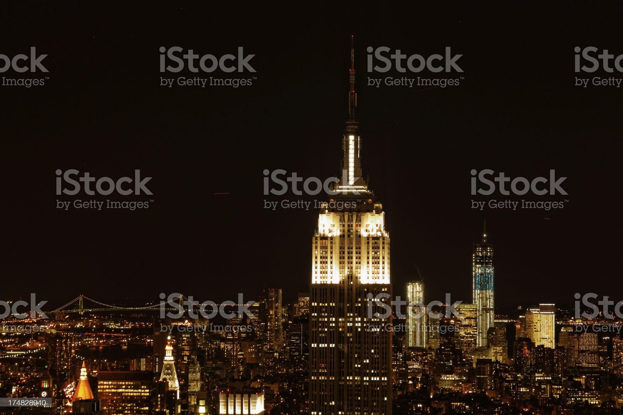 New York city at night XXXL royalty-free stock photo
