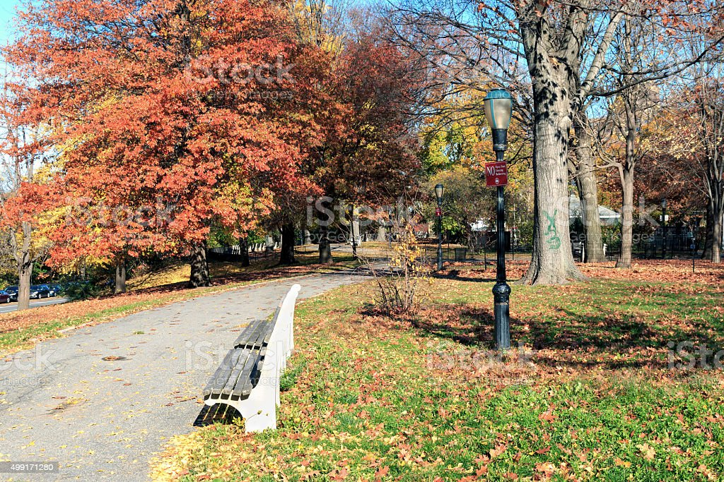 New York City Autumn - Morningside Heights stock photo