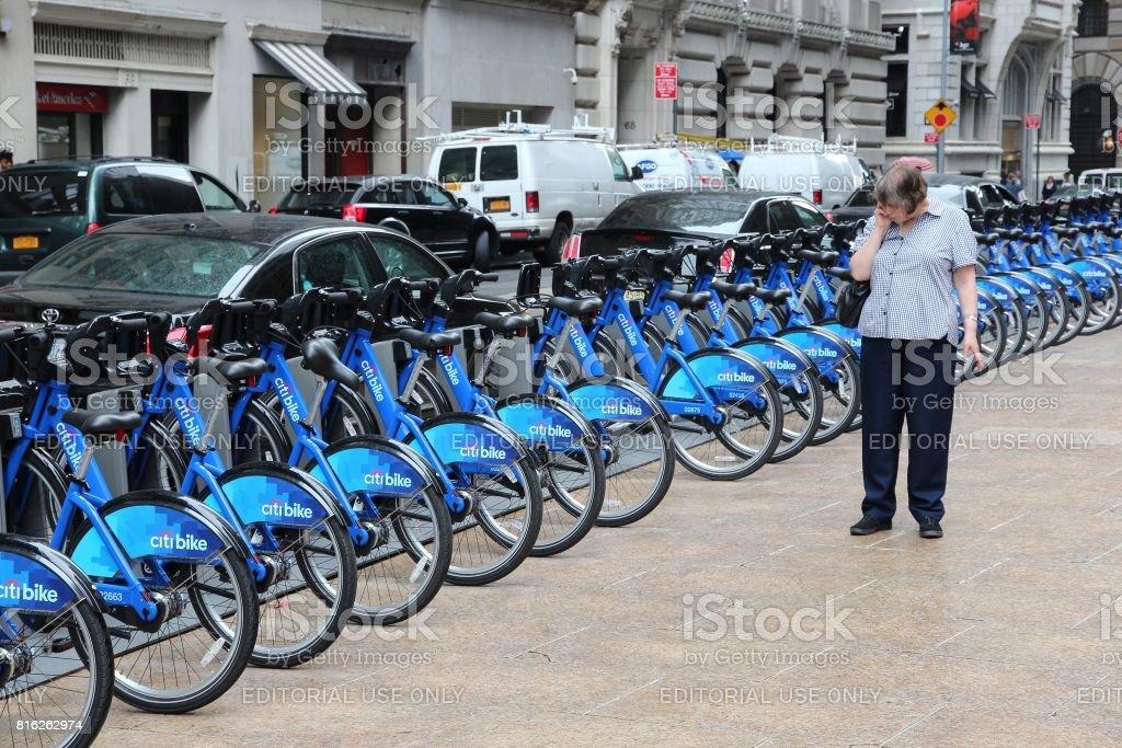 New York city bikes stock photo