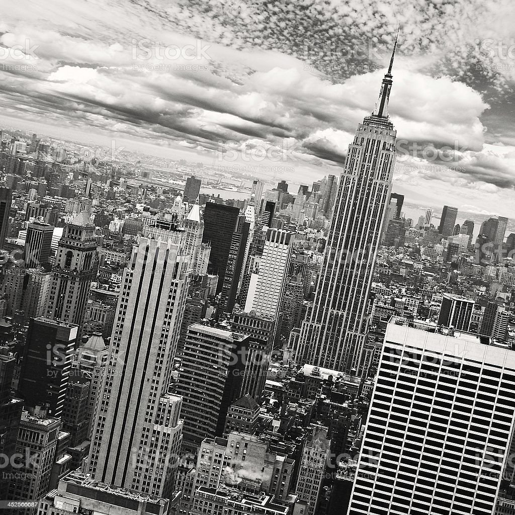 New York City - black and white royalty-free stock photo
