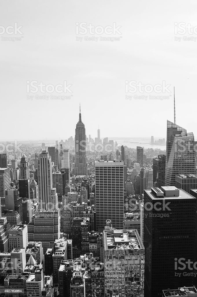 New York City, Black and White Skyline stock photo
