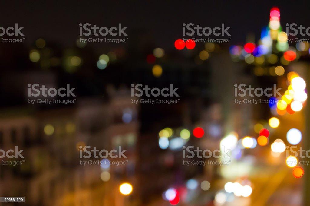 New York City Blurred Lights Background stock photo