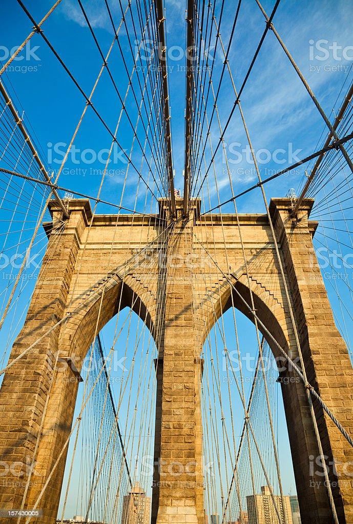 New York City Brooklyn Bridge Detail royalty-free stock photo