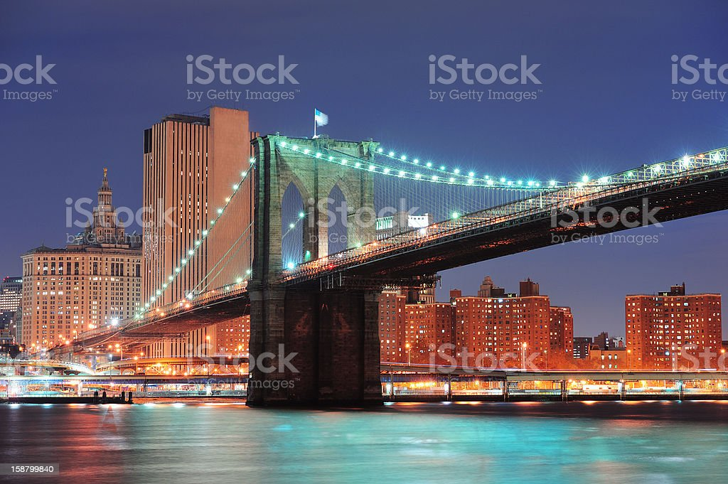 New York City Brooklyn Bridge royalty-free stock photo