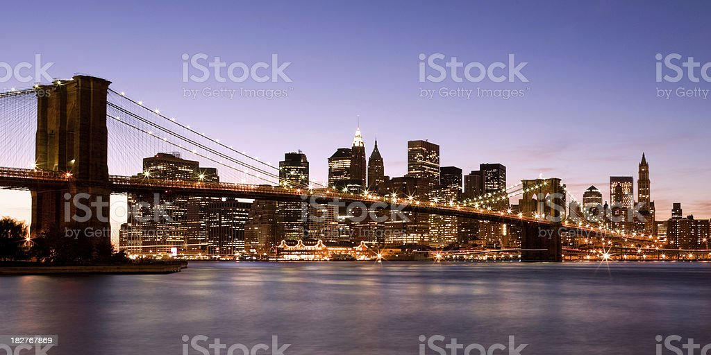 New York City - Brooklyn Bridge royalty-free stock photo