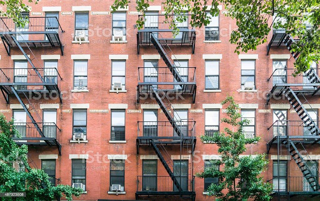 New York City Brownstone stock photo