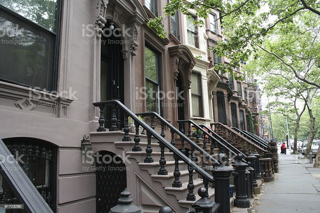 New York City Brownstones royalty-free stock photo