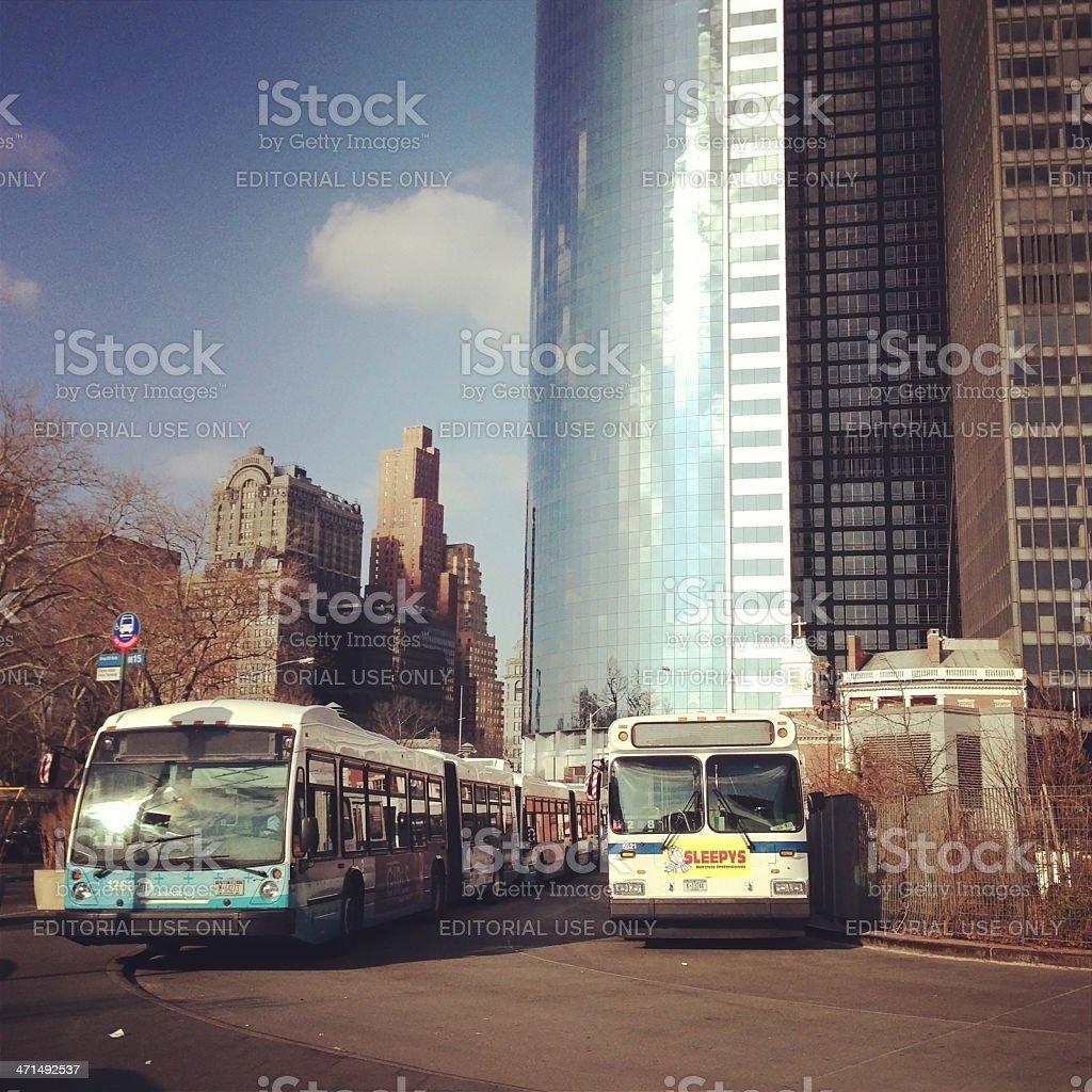 New York City Buses royalty-free stock photo