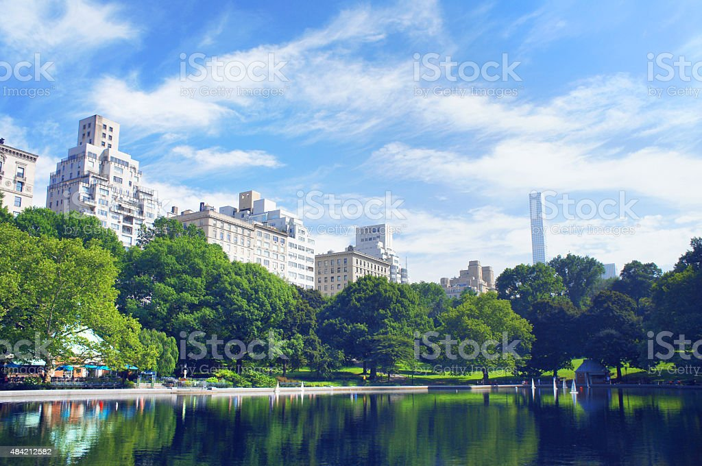 New York City Central Park in summer stock photo