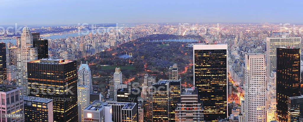New York City Central Park panorama royalty-free stock photo