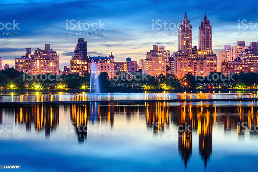 New York City Central Park Skyline stock photo
