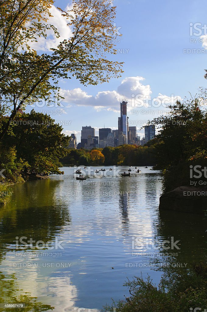 New York City Central Park with Manhattan skyline skyscrapers royalty-free stock photo