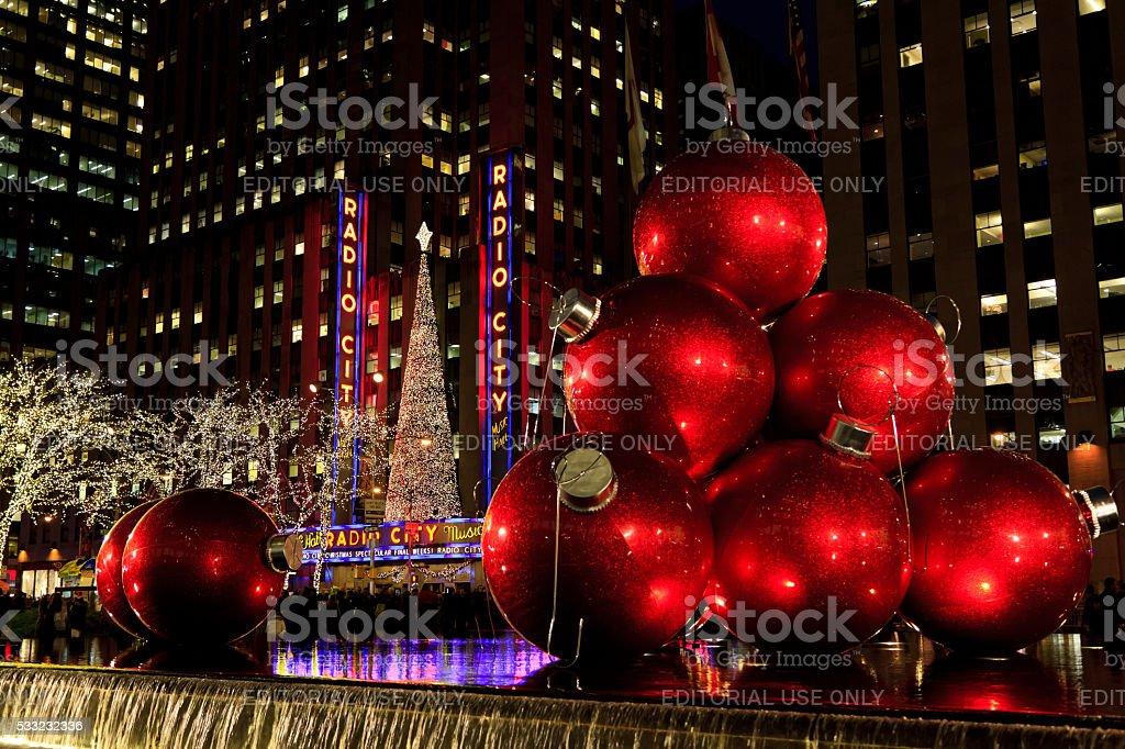 New York City Christmas Balls stock photo